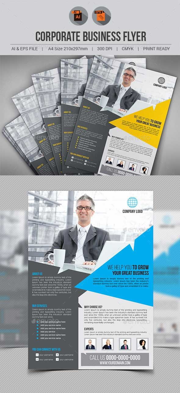 Corporate Business Flyer Template Psd Promo Flyer Pinterest