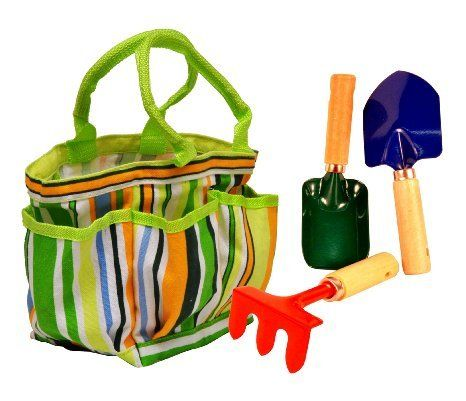 G & F 10051 JustForKids Water Pail with Tool Set and Glove, Blue | MyPointSaver