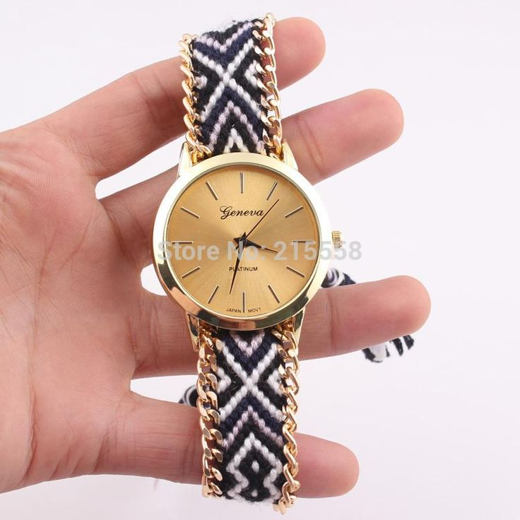 Neue Marken Handmade Geflochtenen Seil Freundschaft Armband Uhr Genf Uhr Dame Quarz Armbanduhr Jjal Von