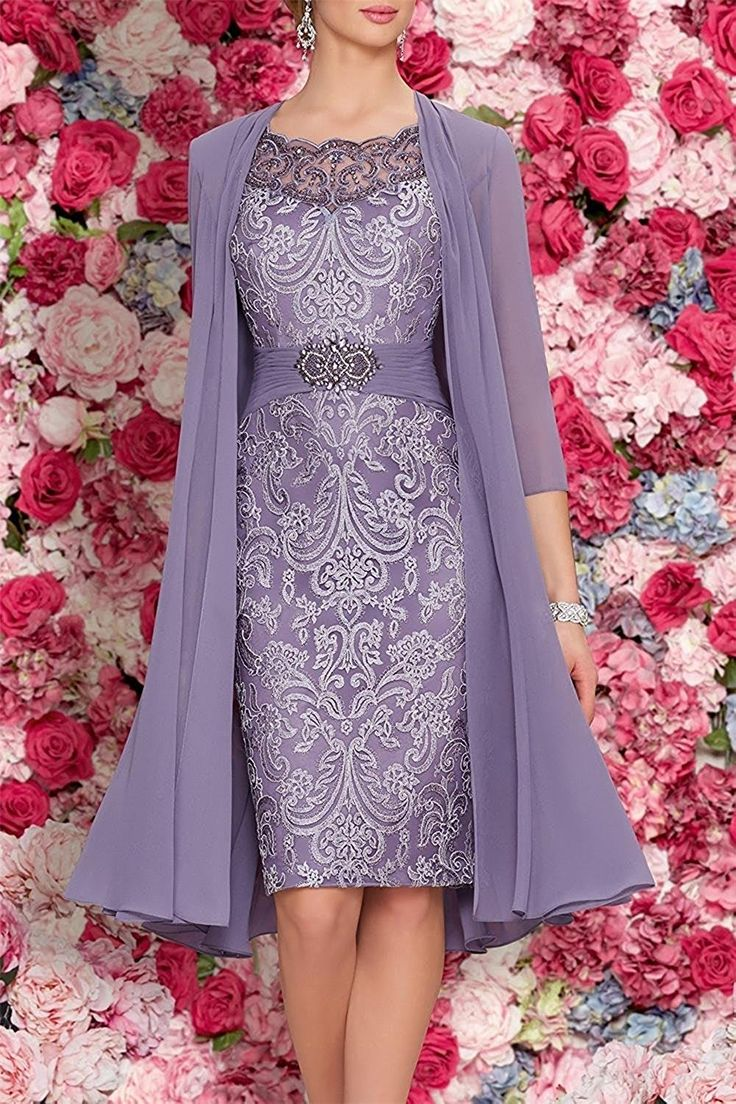 Mother Of The Bride Dresses Tea Length Two Pieces With