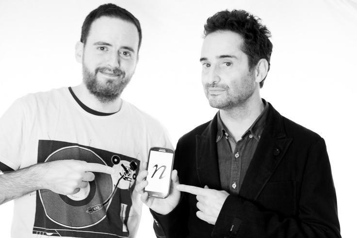 Ricardo Sánchez y Jorge Drexler posaron junto a N, la app que ha reinventado la música