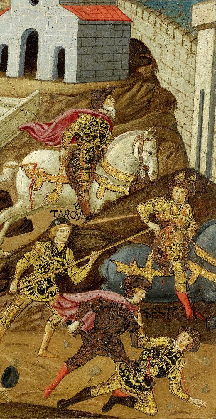 TARQUINIO EL SOBERBIO. Último Rey de Roma. Expulsión de Tarquinio el Soberbio y su familia de Roma en 510 a. C. Maestro di Marradi (1470-1513).
