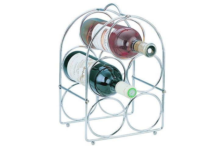 Apollo 5-Bottle Self Assemby Wine Rack, Chrome