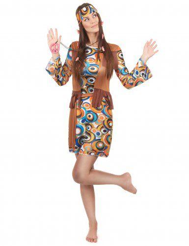 f53e0964ff448 Hippie-Kostüm 60er Jahre für Damen bunt in 2019