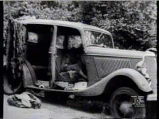 The Bonnie and Clyde 1934 Ford Deluxe Sedan, 'The Death Car' with   167 Bullets.