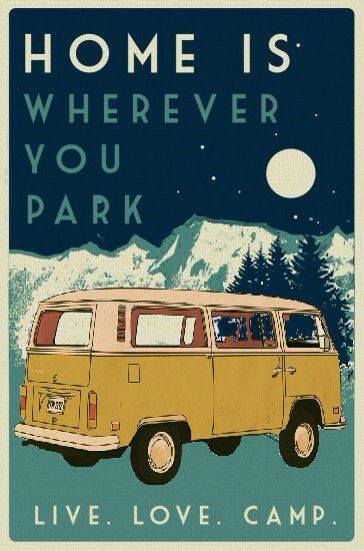 Home is… Volkswagen T2 – #Home #plakat #T2 #Volk…