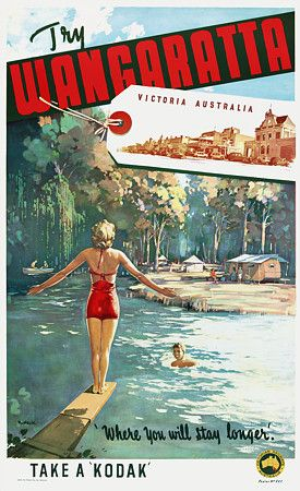 Wangaratta, Victoria,  Australia by James Northfield c.1930s  http://www.vintagevenus.com.au/products/vintage_poster_print-tv608