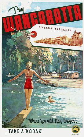 Wangaratta, Victoria,  Australia by James Northfield c.1930s  http://www.vintagevenus.com.au/vintage/reprints/info/TV608.htm