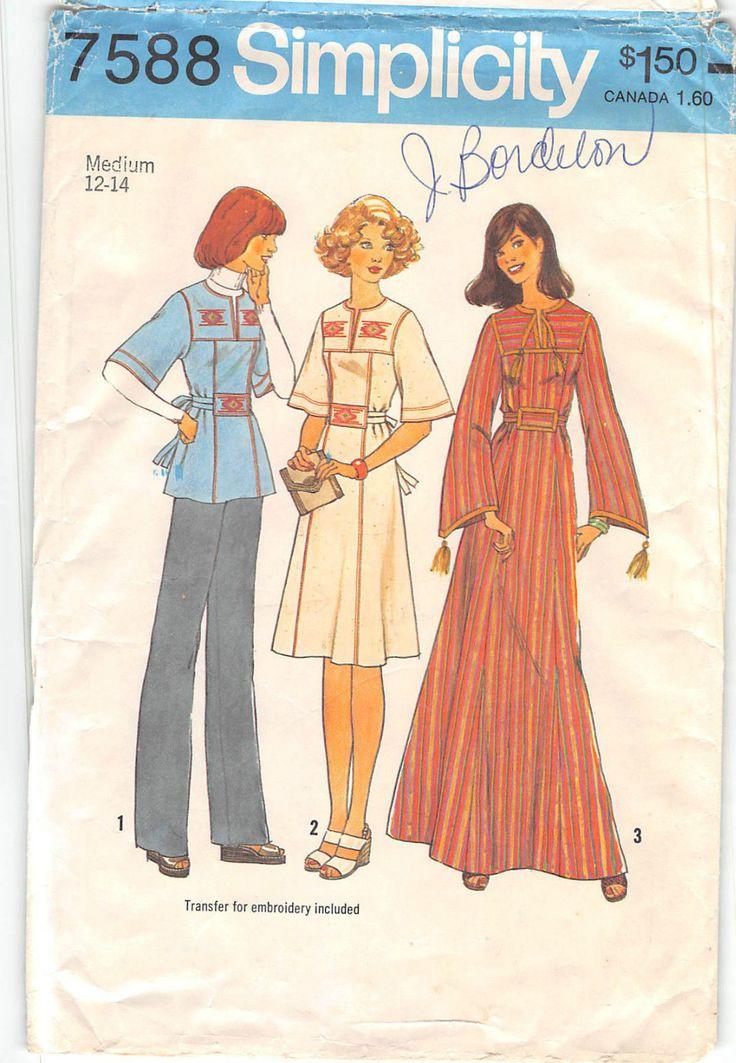 Mejores 136 imágenes de SEWING PATTERNS - Dresses en Pinterest ...
