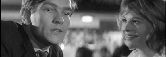 Tom Courtenay and Julie Christie in Billy Liar (1963)