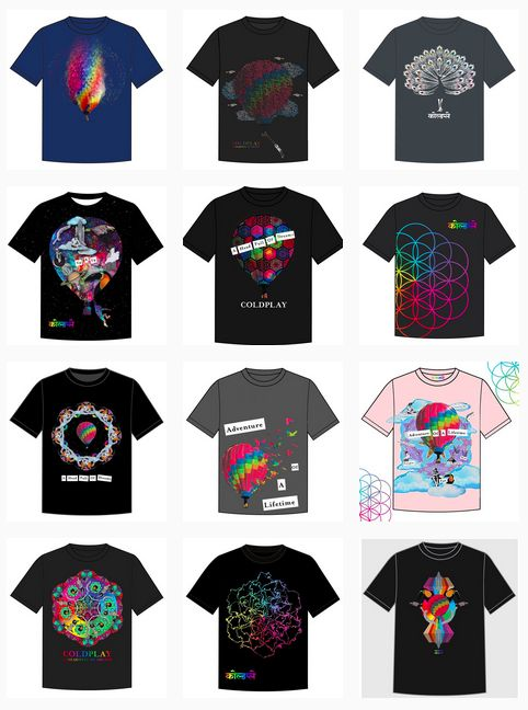 Concours ColdPlay pour t-shirts...