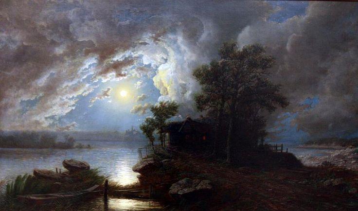 Do 31. ledna mohou zájemci v budějovickém Wortnerově domě navštívit výstavu Temná noc, jasná noc s podtitulem Měsíc a noc v českém výtvarném umění  19.–21. století.