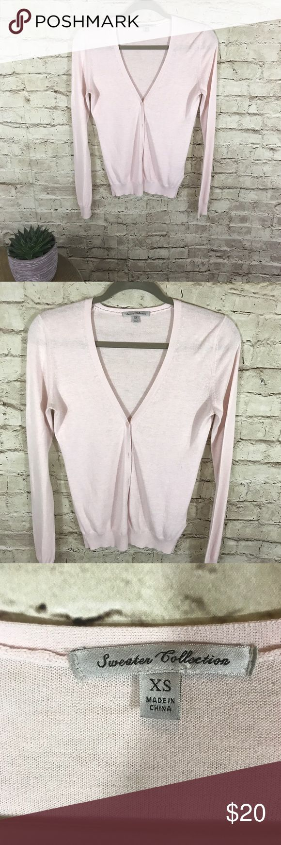 Uniqlo cardigan button down Very light pink cardigan. Buttons down.good condition. Size XS. Sweater collection by uniqlo Uniqlo Sweaters Cardigans