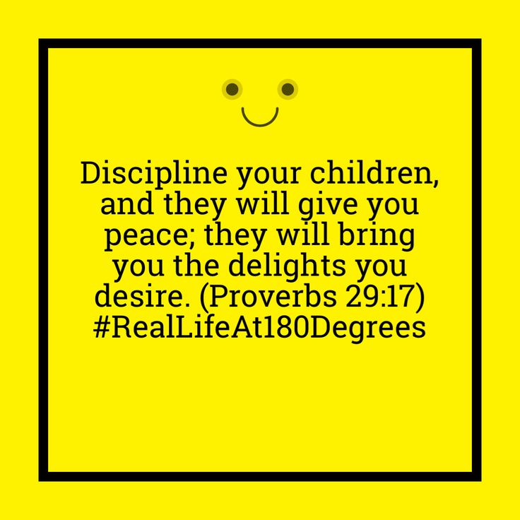 "#RealLifeAt180Degrees Remember that we should be ""careful to discipline"". Not to be absent of discipline"