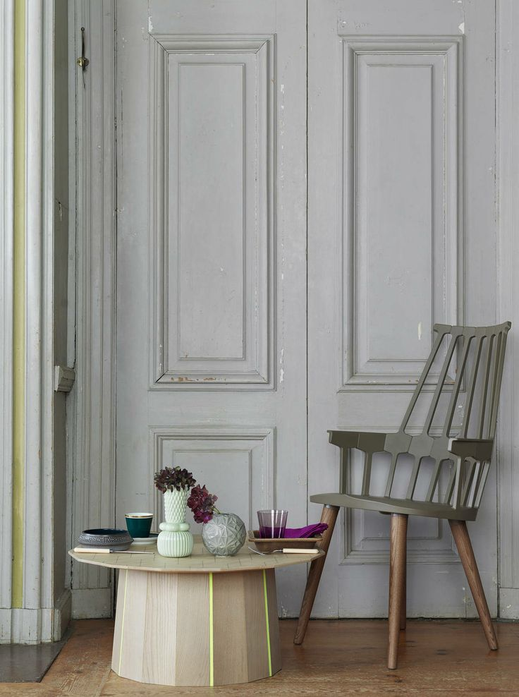 Interiors - Petra Bindel - LINKdeco, lovely Kartell Comback chair (http://www.cimmermann.co.uk/product/kartell_comback_4_legged_chair/)