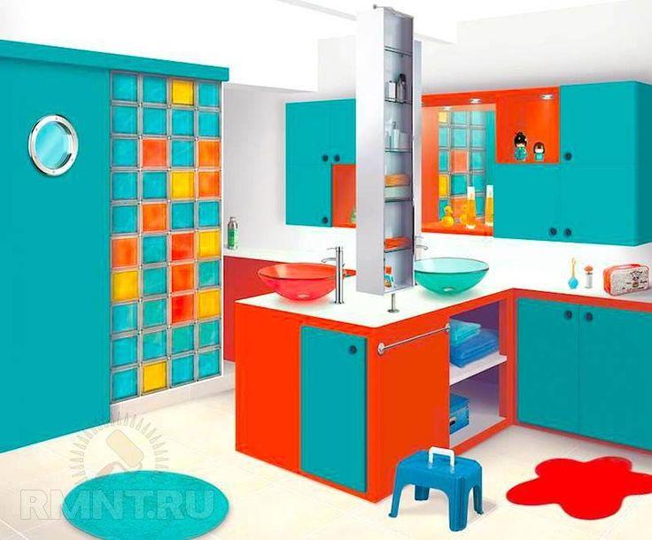 banheiro colorido para crianças