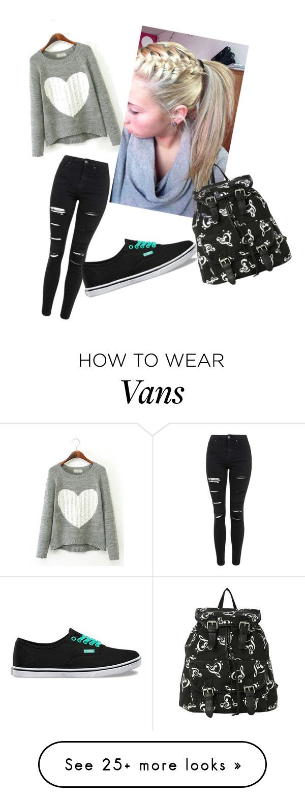 """""""back 2 school"""" by yohannaapm on Polyvore featuring Topshop, Vans, women's clothing, women's fashion, women, female, woman, misses and juniors"""