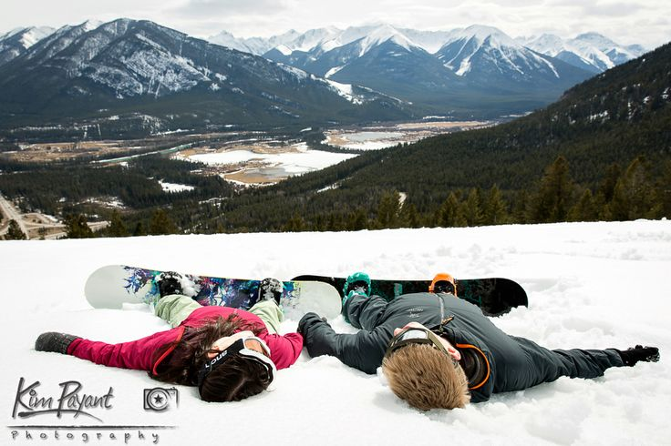 Banff Winter engagement, lifestyle portraits,Outdoor portrait, banff engagement photographer, couple portraits, snowboarding engagement, www.kimpayantphotography.com