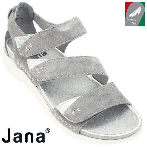 Jana női bőr szandál 8-28600-20 224 világos szürke  dc009db74e
