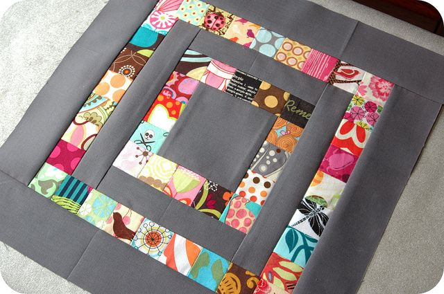 "want to make a whole quilt like this... 1"" square (finished blocks) and Kona Coal cotton."
