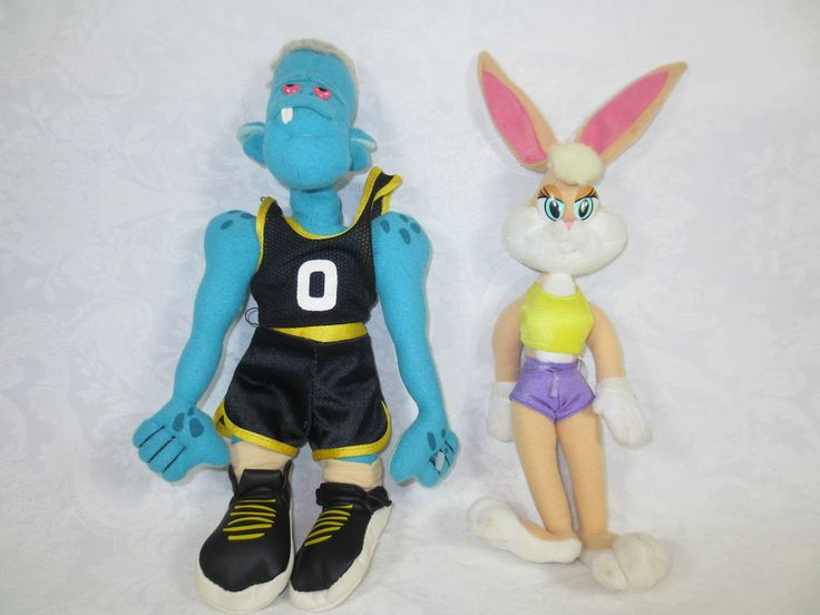 "11"" WB LOONEY TUNES SPACE JAM PLUSH DOLLS ~Blanko Frankenstein ~Lola Cheerleader #MadeforWarnerBrothersMcDonalds"