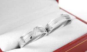 Groupon - Argollas de matrimonio con 4 diamantes. Con retiro en Qtregalo en Groupon Shopping. Precio de la oferta Groupon: $825.000