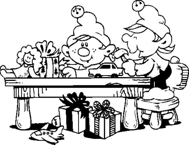santas toy shop coloring pages - photo#2