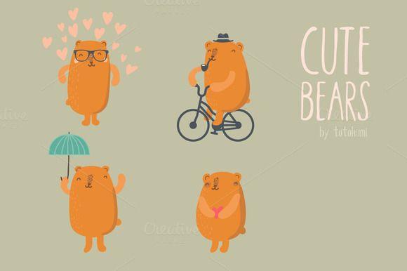 Cute Bears by totokumi on Creative Market