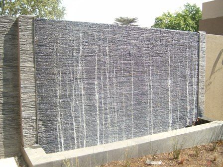 25 best ideas about wall water features on pinterest for Garden water wall designs