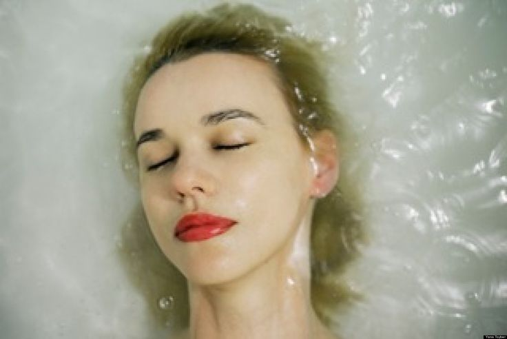 "In her latest series ""Rebirth,"" Ukrainian-born photographer Yana Toyber creates underwater portraits of her fashion-forward friends submerged in bathtubs. (Wes Anderson fans might recall one bather, Waris Ahluwalia, in ""The Darjeeling ..."