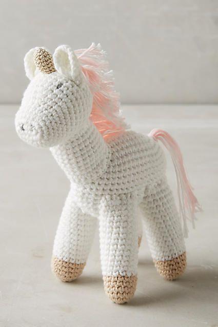 Crocheted Unicorn Toy