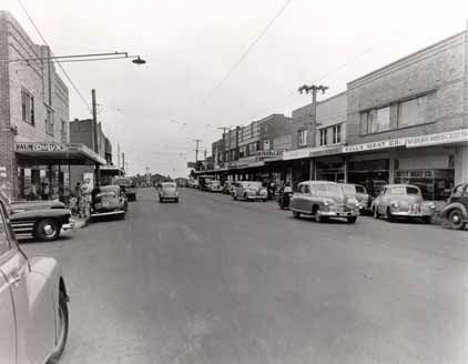 North Balwyn Village at the corner of Doncaster and Bulleen Rds back in the 50s
