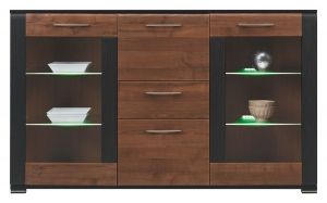 NA4 NAOMI BOGFRAN sideboard. Modern design. Hinges with integrated dampers ensure the doors close slowly, silently and softly. Pronounced side frames.Polish Bogfran Modern Furniture Store in London, United Kingdom #furniture #polish #bogfran #dresser #cabinet