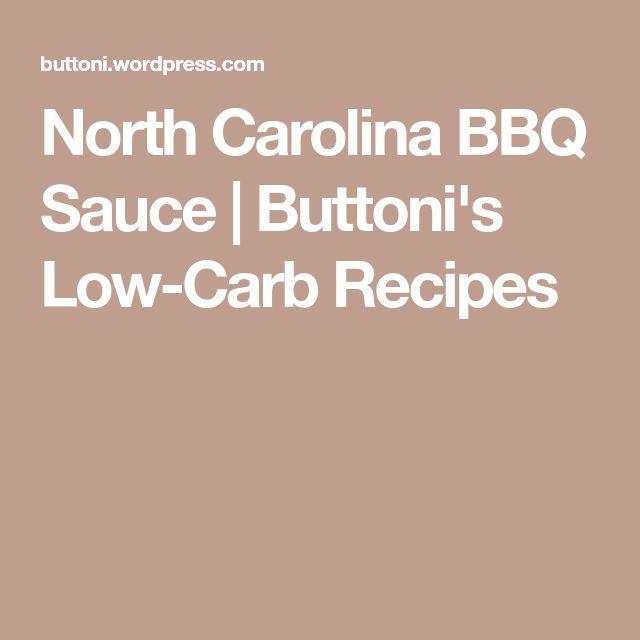 North Carolina BBQ Sauce   Buttoni's Low-Carb Recipes