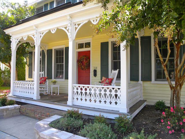 Yellow House Red Door I Like It Houspiration