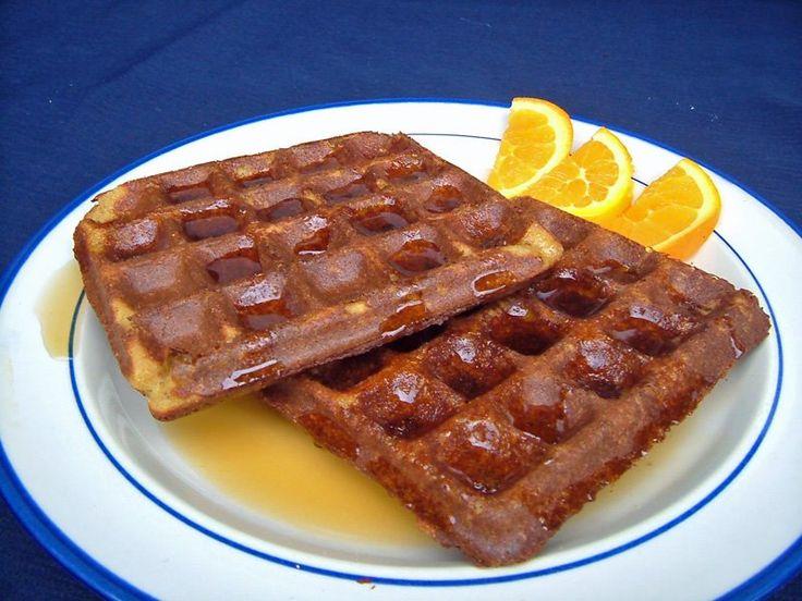 VEGAN ORANGE-PECAN CORNMEAL WAFFLES (GLUTEN-FREE!)-- bean-based! Vegan ...