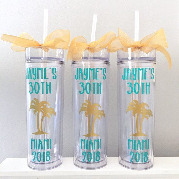 NEXT DAY SHIPPING 30th Birthday Favor Personalized Tumbler 40th 50th Gift Trip