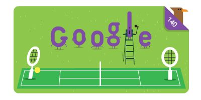 140th Anniversary of Wimbledon  Date: July 3 2017  Todays Doodle marks the 140th year of the Wimbledon championships the worlds oldest tennis tournament. Each year hundreds of players take a shot at winning this Grand Slam event. Wimbledon has drawn crowds since the dawn of professional tennis way back when players were using handmade wooden rackets. The tournament is known for its grass courts perfectly maintained to a neat 8mm  a sturdy height for fast-moving feet.  Like all British…