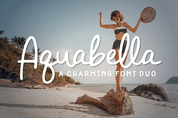 Aquabella Font Duo by Denise Chandler on @creativemarket