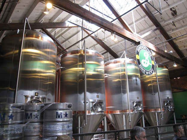 Enjoy a pint (or several) at the Brooklyn Brewery.