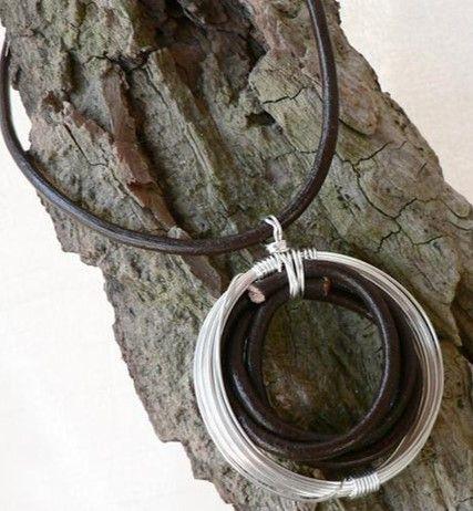 #necklace #leather #kaunis
