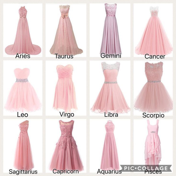 The signs as pink dresses. – – – – #zodiac #aries #taurus #gemini #cancerzodiac