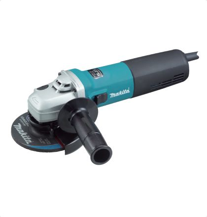 Makita 9565H Angle Grinder     High power anti-dust motor.     Super Joint System absorbs shock caused by accidental wheel lock and protects gears.     Toolless Wheel Cover.     Housing shape is east to grip because of internal Brush Holders.     Labyrinth construction seals motor and bearings from contamination. For More Details: http://www.mrthomas.in/makita-9565h-angle-grinder_55