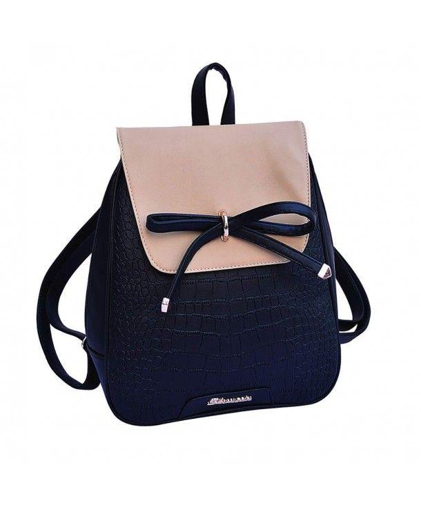 e3ec884c815 Women s Bags, Backpacks,Girl Cute Bowknot Backpack School Season Teenagers  Casual Fashion Daypack - Black - CB18G9MD99E  BAGS  Handbags  women  style  ...