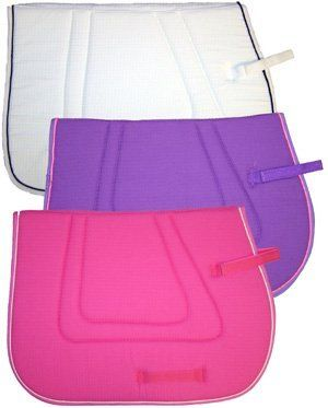 Air Cooled Waffle Weave English Saddle Pad . $22.99. Waffle Weave Pad! This non-slip, cotton waffle weave pad is washable and breathable for your horse's comfort. A stylish, all-purpose pad double stitched and reinforced at all stress points. Includes Velcro billet straps.