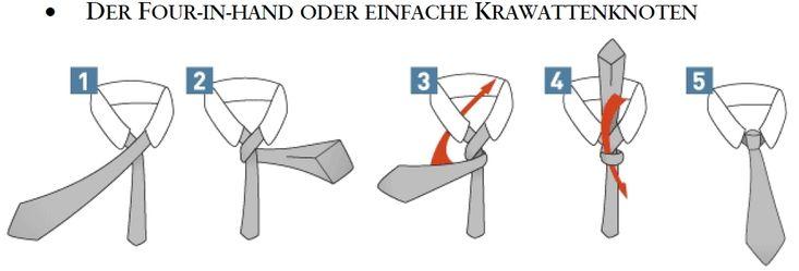 Krawatte binden: der Four-in-Hand oder einfache Krawattenknoten