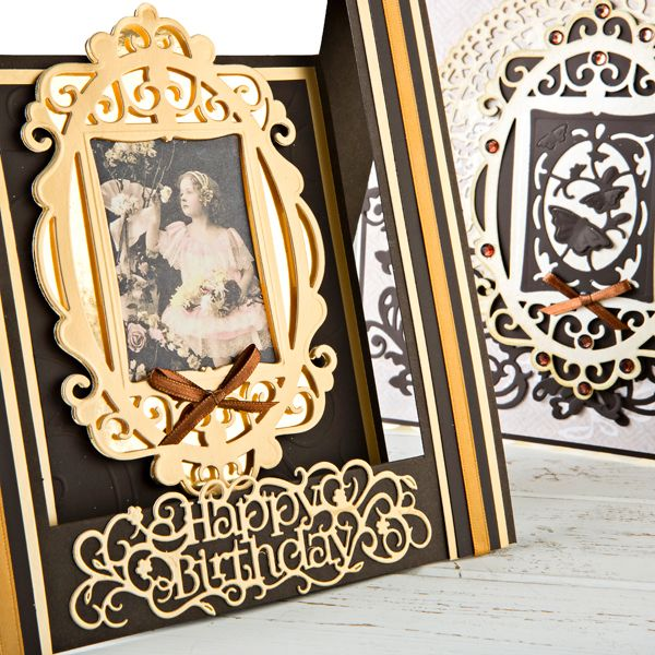 Tonic Set of 2 Indulgence Keepsakes Frame and Insert Dies - Royal, Butterfly and Floral, Spring