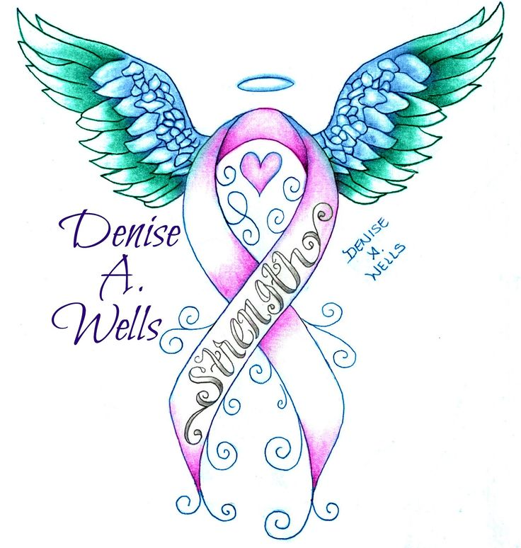 https://flic.kr/p/wEwftm | Strength awareness ribbon tattoo design by Denise A. Wells | Strength awareness ribbon tattoo design by Denise A. Wells