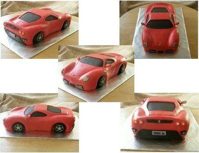 Ferrari cake for a sweet 16 birthday girl.