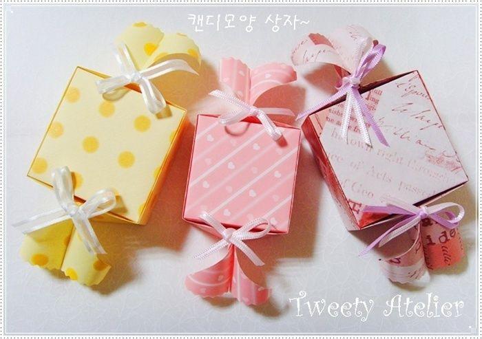 Caramelle di San Valentino Day confezioni] ~ caramelle scatola a forma di origami :: Naver blog